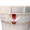 Life Latch® White 12 Gallon Plastic Drums & Covers