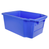 """23.7""""L x 15.8""""W x 9.9""""H Blue Stack & Nest Container"""