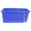 "23.7""L x 15.8""W x 9.9""H Blue Stack & Nest Container"