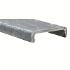 "2"" x 9/16"" x 1/8"" Fibergrate Dynaform® Channel; Grey"
