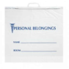 """19"""" x 18"""" x 4"""" Bottom Gusset Opaque Bags with Blue Print & Snap Handles"""
