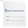 """18"""" x 18.5"""" x 6"""" Bottom Gusset Opaque Bags with Blue Print & Drawstrings"""