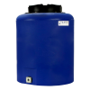 "20 Gallon Tamco® Vertical Blue PE Tank with 12-1/2"" Lid & 3/4"" Fitting - 19"" Dia. x 24"" High"