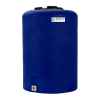 "25 Gallon Tamco® Vertical Blue PE Tank with 8"" Lid & 3/4"" Fitting - 19"" Dia. x 27"" High"