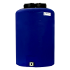 "25 Gallon Tamco® Vertical Blue PE Tank with 12-1/2"" Lid & 3/4"" Fitting - 19"" Dia. x 29"" High"
