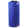 """40 Gallon Tamco® Vertical Blue PE Tank with 8"""" Lid & 3/4"""" Fitting - 19"""" Dia. x 41"""" High"""