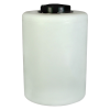 "55 Gallon Tamco® Vertical Natural PE Tank with 12-1/2"" Lid & 1"" Fitting - 24"" Dia. x 34"" High"