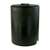 "55 Gallon Tamco® Vertical Black PE Tank with 8"" Lid & 1"" Fitting - 24"" Dia. x 33"" High"