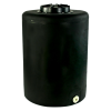 "55 Gallon Tamco® Vertical Black PE Tank with 12-1/2"" Lid & 1"" Fitting - 24"" Dia. x 34"" High"