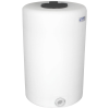 """65 Gallon Tamco® Vertical Natural PE Tank with 8"""" Lid & 2"""" Fitting - 24"""" Dia. x 38"""" High"""