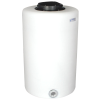 """65 Gallon Tamco® Vertical Natural PE Tank with 12-1/2"""" Lid & 2"""" Fitting - 24"""" Dia. x 39"""" High"""