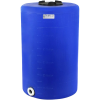 """65 Gallon Tamco® Vertical Blue PE Tank with 8"""" Lid & 2"""" Fitting - 24"""" Dia. x 38"""" High"""