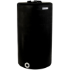 """75 Gallon Tamco® Vertical Black PE Tank with 8"""" Lid & 2"""" Fitting - 24"""" Dia. x 44"""" High"""