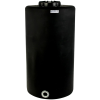 """75 Gallon Tamco® Vertical Black PE Tank with 12-1/2"""" Lid & 2"""" Fitting - 24"""" Dia. x 45"""" High"""