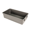 "Gray High Density Polyethylene Pan w/o Handles 19-1/4""L x 10-1/2""W x 5-1/8""H"