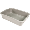 "Gray High Density Polyethylene Pan with Handles 20""L x 15-1/2""W x 5""H"