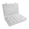 "Infinite Divider System™ w/16 Dividers/4 Compartments - 13-1/2"" L x 9-1/2"" W x 2-3/16"" Hgt."