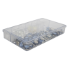 "K-Series™ Styrene 7 Compartments Box - 10-15/16"" L x 6-5/8"" W x 1-13/16"" Hgt."