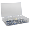 "K-Series™ Styrene 7 Compartments Box - 10-15/16"" L x 6-5/8"" W x 1-13/16"" Hgt."