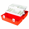 "First Aid Case with 9 Compartments - 15-5/8"" L x 6-1/2"" W x 7-3/4"" Hgt."