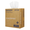 "8.75"" x 17"" White Medium-Duty Wipers 80 gsm - 86 Wipes/Pop-Up Box"