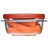 "Rubbermaid® Easy Find Lid 1.25 Cup Container - 4.9"" L x 4.9"" W x 2"" H"