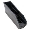 "Black Quantum® High Recycled Shelf Bin - 11-5/8"" L x 2-3/4"" W x 4"" Hgt."