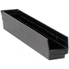 "Black Quantum® High Recycled Shelf Bin - 23-5/8"" L x 4-1/8"" W x 4"" Hgt."