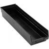 "Black Quantum® High Recycled Shelf Bin - 23-5/8"" L x 6-5/8"" W x 4"" Hgt."