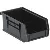 """Black Quantum® Ultra Series Recycled Stack & Hang Bin - 7-3/8"""" L x 4-1/8"""" W x 3"""" Hgt."""