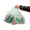 """16-1/2"""" x 19-1/2"""" 0.75 mil NaturBag™ Compostable Shopper Bags - Case of 500"""