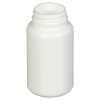 4 oz./120cc White HDPE Wide Mouth Packer with 38/400 Neck (Cap & Band Sold Separately)