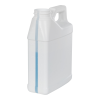 16 oz. White HDPE F-Style Jug with Window Strip with 33/400 Neck (Cap Sold Separately)