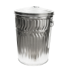 20 Gallon Galvanized Steel Trash Can & Lid