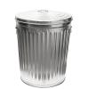 24 Gallon Galvanized Steel Trash Can & Lid
