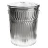 32 Gallon Galvanized Steel Trash Can & Lid