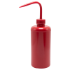 500mL Scienceware® Safety Red Wash Bottle 28mm Cap