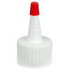 24/410 White Yorker Spout Cap with Regular Red Tip