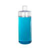 32 oz. Clear PVC Cylindrical Bottle with 28/410 Flip-Top Cap