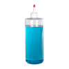 32 oz. Clear PVC Cylindrical Bottle with 28/410 White Yorker Cap