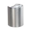 24/415 Brushed Aluminum & White Disc Dispensing Cap