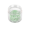 1 oz. Polystyrene Straight Sided Thick Walled Clear Jar with 43/400 Neck (Cap Sold Separately)