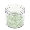 12 oz. Polystyrene Straight Sided Thick Walled Clear Jar with 89/400 Neck (Cap Sold Separately)