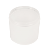 12 oz. Polypropylene Straight Sided Thick Walled Natural Jar with 89/400 Neck (Cap Sold Separately)