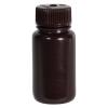 2 oz./60mL Nalgene™ Amber Wide Mouth Economy Bottle with 28mm Cap