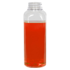 16 oz. Clear PET French Square Bottle with 38/400 Neck  (Cap Sold Separately)