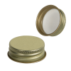 28/400 Gold Metal Cap with Full Cover Plastisol Liner