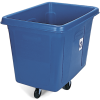 "44 1/4"" x 30 1/2"" x 37 5/16"" Blue 16 Cubic Foot Cube Truck, ""We Recycle"""