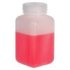 16 oz./500mL Nalgene™ Wide Mouth Polyethylene Square Bottle with 53mm Cap