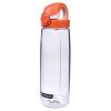 24 oz. Clear Nalgene® On The Fly Tritan Water Bottle with Orange & White Cap